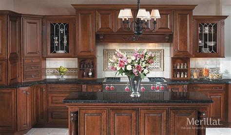 Open Kitchen Shelves Decorating Ideas merillat masterpiece 174 caliseo in cherry chocolate with