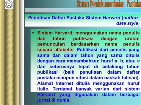 cara penulisan daftar pustaka dari internet harvard style teknik menulis karangan ilmiah ppt download