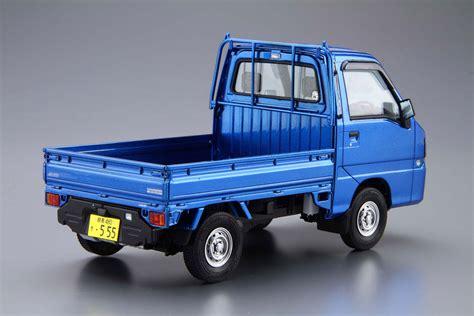 subaru truck models subaru tt2 sambar truck wr blue aoshima 05155