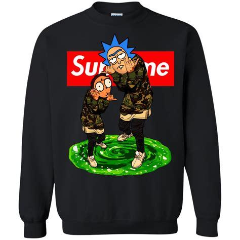 Hoodie Jket Supreme Navy rick and morty supreme t shirt sweater hoodie icestork