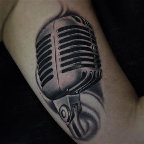 microphone wings tattoo black and gray microphone tattoo tattoos