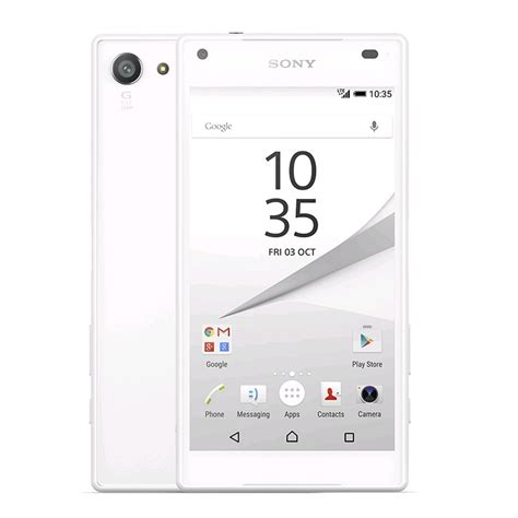Hp Sony Z5 Compact sony xperia z5 compact unlocked lte 32gb white ap e5823 wht expansys canada