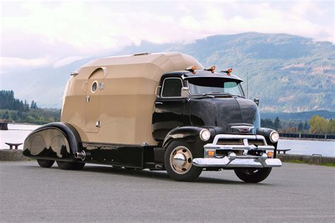 Shp Cars Sjr 600 White 1954 chevy cab is the ultimate in living quarters