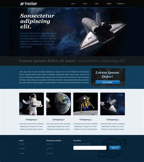 Astronomy Website Template Free Website Templates Free Science Website Templates