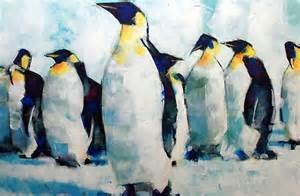 Colourful Duvet Covers Uk Quot Emperor Penguins Artwork Painting Quot By Samuel Durkin