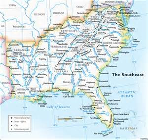 southeast map of usa images