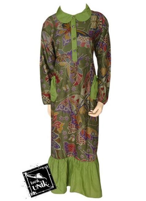Aruchi Kancing Pundak Lengan Panjang Motif Planet Size S Biru baju batik gamis kancing depan motif etnik kupu gamis batik murah batikunik