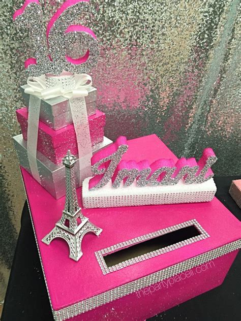 paris theme card box sweet 16 the party place li the