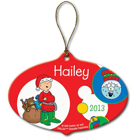 personalized caillou santa christmas ornament