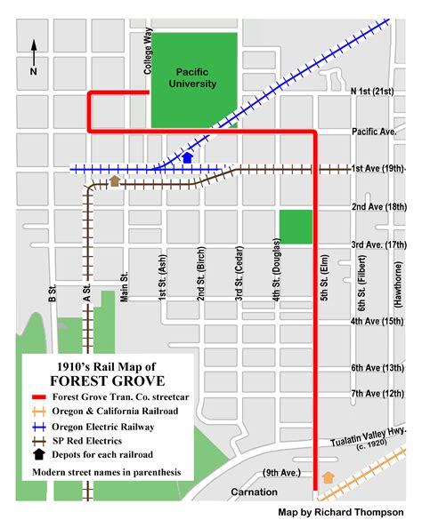 forest grove oregon map forest grove streetcar system