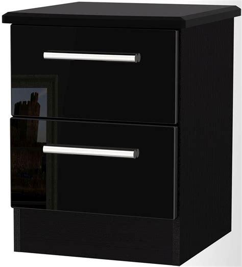 High Gloss Black Cabinets by Black High Gloss Bedside Cabinet Memsaheb Net