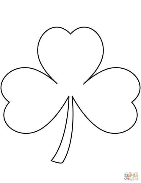 free shamrock coloring pages printable c0lor com shamrock coloring page free printable coloring pages
