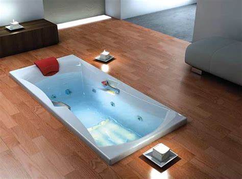 in floor bathtub bathroom decomodo