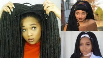 hair braid for a closure easy diy box braid wig no closure styling tutorial