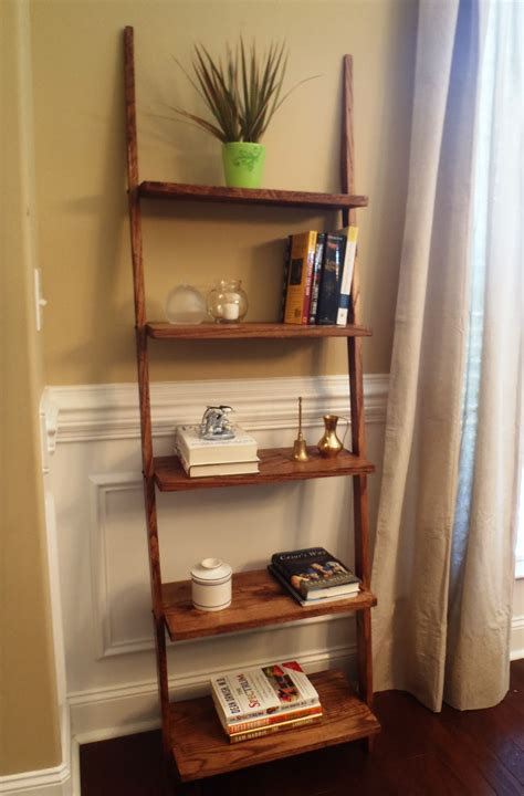 ladder bookcase oak home designs insight ladder