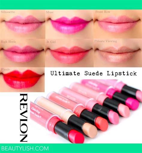 Lipstik Revlon Colorstay Ultimate revlon colorstay ultimate suede lipstick swatches marlin