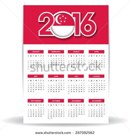 new year 2016 singapore calendar singa free vector 4vector