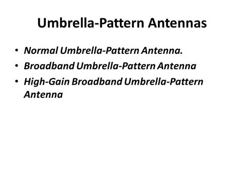 umbrella pattern antenna antennas at cell site for coverage ppt video online download