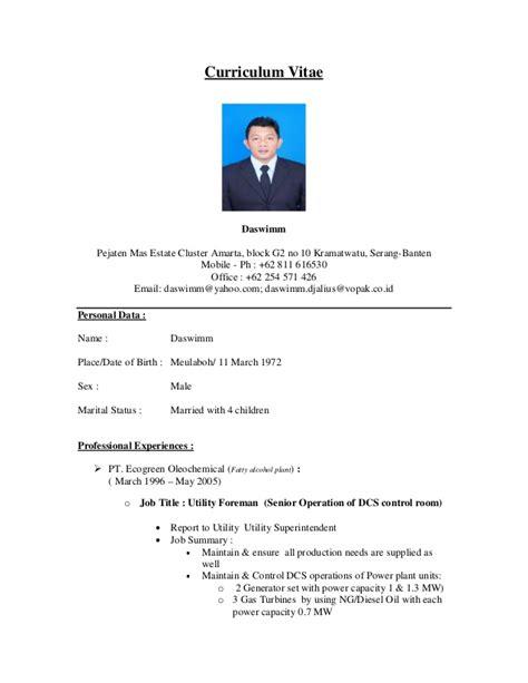 Contoh Objektif Dalam Resume by Daswimms Cv 2012