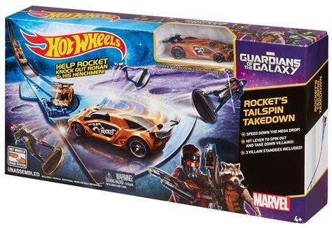 Hotwheels Set 6 wheels marvel guardians of the galaxy rocket s talespin takedown track set only 6 54 reg