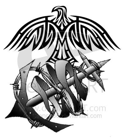usmc tribal tattoos usmc by silence36 on deviantart