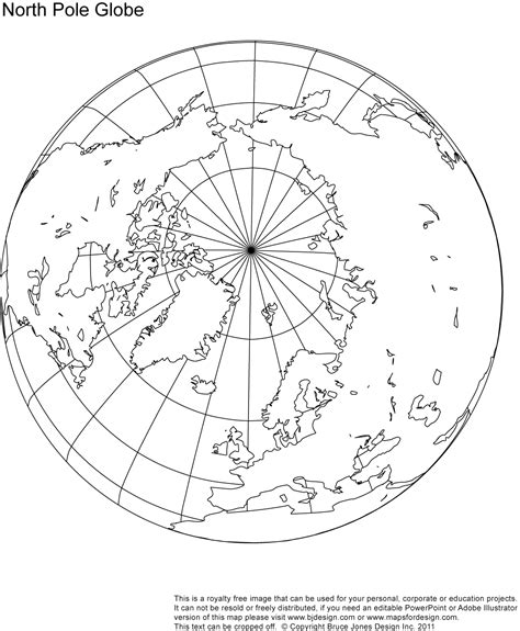 Map Of The World North Pole by Printable Blank World Globe Earth Maps Royalty Free Jpg