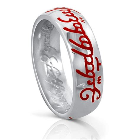 lord of the rings one ring silver engraved the lord of