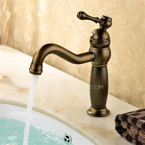 Hot Sale Antique Bronze Single Hole Bathroom Faucets