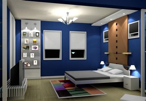 Interior Design Ideas For Blue Bedroom 2013 Pop Green And White Bedroom Design 3d House Free