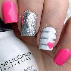 u 241 as de gel plata y fucsia nail gel pink silver youtube 1000 images about u 241 as on pinterest pink nails nail