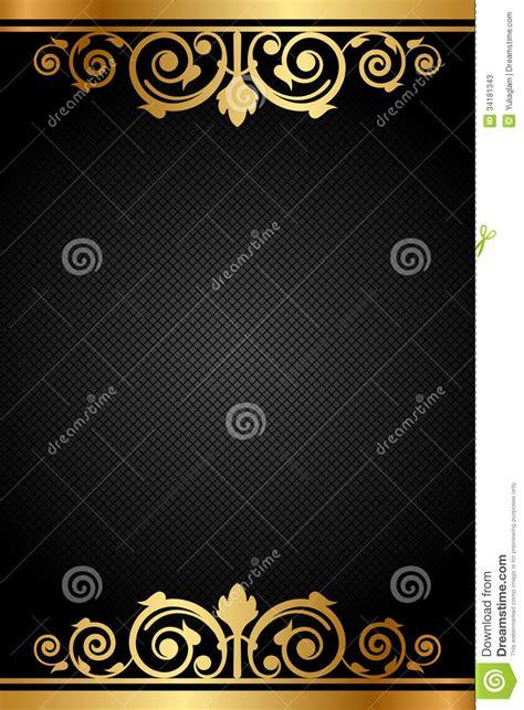 black  gold luxury frame stock vector image