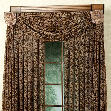 leopard window curtains leopard stripe scarf valance 59 x 216 touch of class