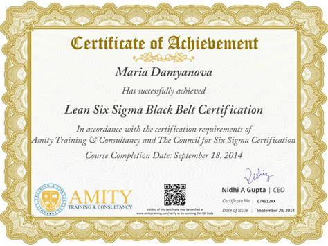 six sigma black belt certificate template lean six sigma black belt and certification