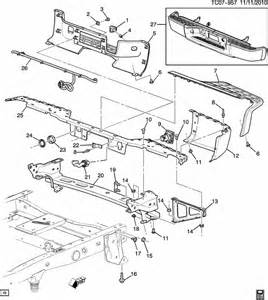 2011 silverado rear bumper diagram auto parts diagrams