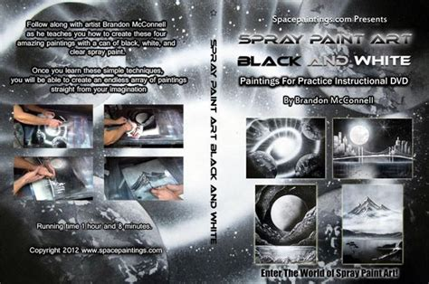 spray paint dvd spray paint black and white dvd spacepaintings