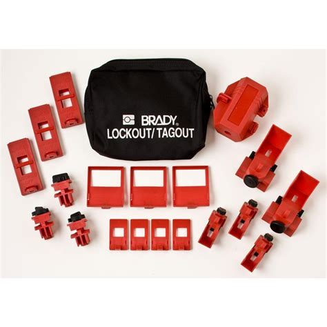 Masterlock 1458ve410 Lockout Kits brady breaker lockout pouch kit 65405 the home depot