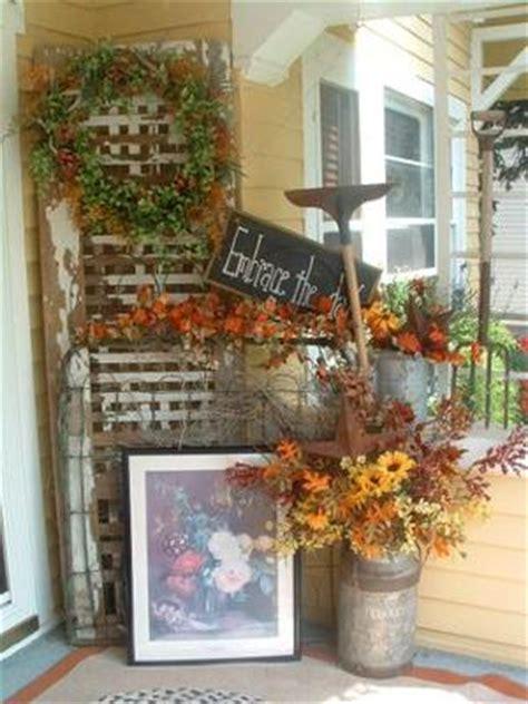 vintage home love autumn porch ideas autumn porch decorating contest 2009