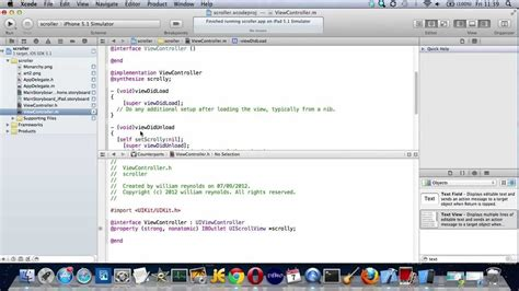 tutorial xcode storyboard xcode scrollview in storyboard exle youtube
