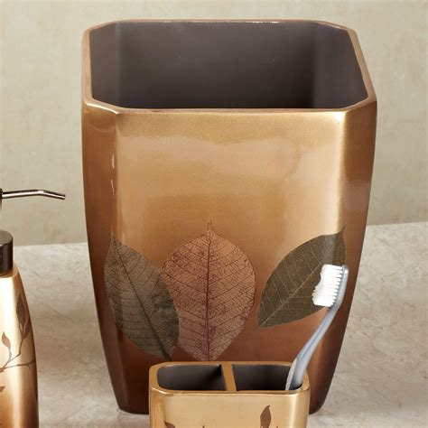 Leaf Bathroom Accessories Delano Leaf Design Ceramic Bath Accessories Leaf Bathroom Accessories Tsc