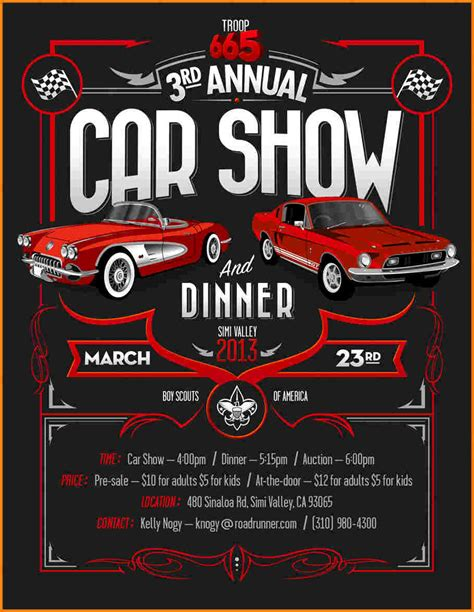 Car Show Flyer Template car show flyer template authorization letter pdf