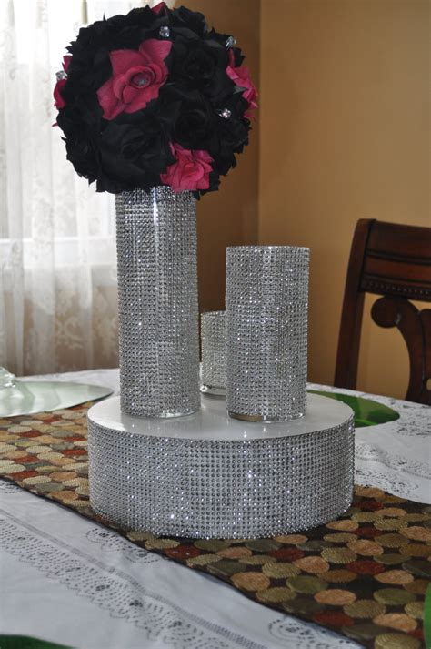 bling centerpieces wedding reception rhinestone bling vase for wedding centerpiece table
