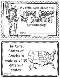 united states map kindergarten america booklet a country study around the worlds