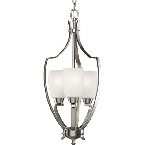 progress lighting wisten collection 3 light brushed nickel