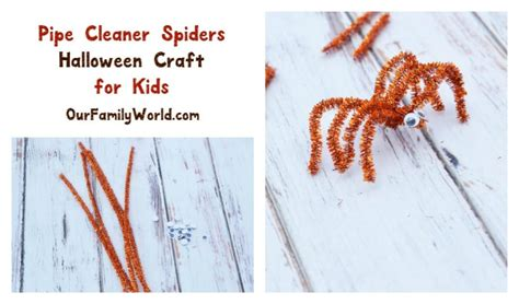 easy halloween craft  kids pipe cleaner spiders