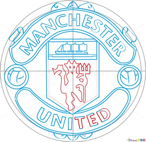tutorial logo manchester united how to draw manchester united football logos