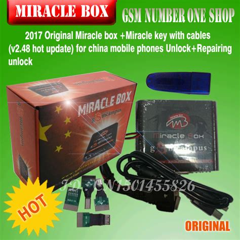 Miracle For Free Free Ship 2017 Original Miracle Box Miracle Key With Cables V2 48 Update For China Mobile