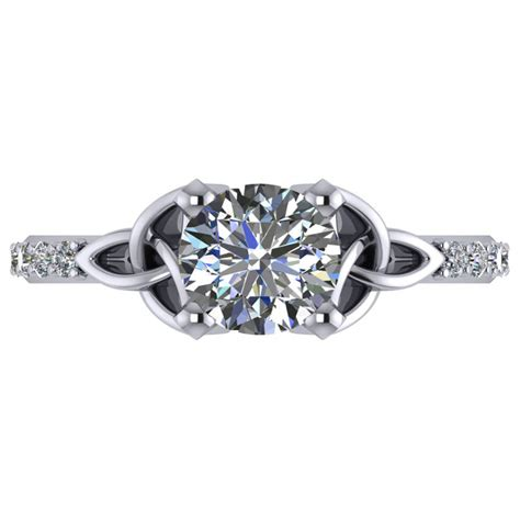 celtic knot engagement ring palladium 1 50ct