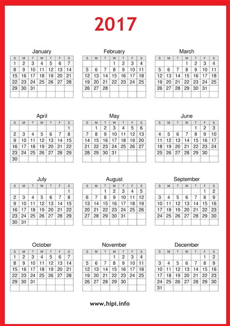 Printable Calendar 2017 Download | twitter headers facebook covers wallpapers calendars