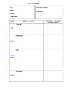 lesson plan template for pe powerpoint templates free lesson plan template