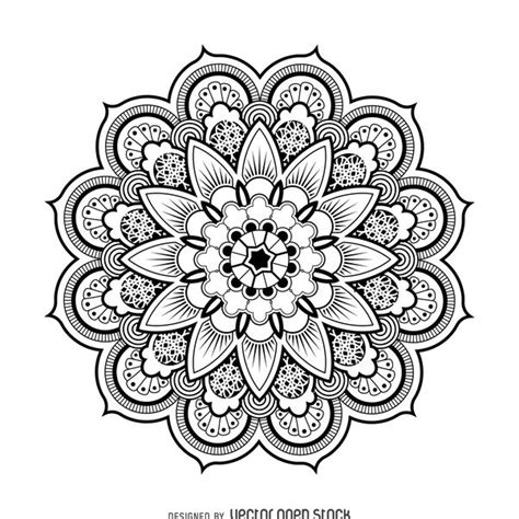 winter a grayscale coloring book books mandala design drawing free vector 367561 cannypic